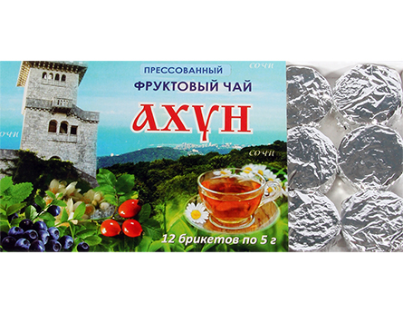 прессованный фруктовый чай